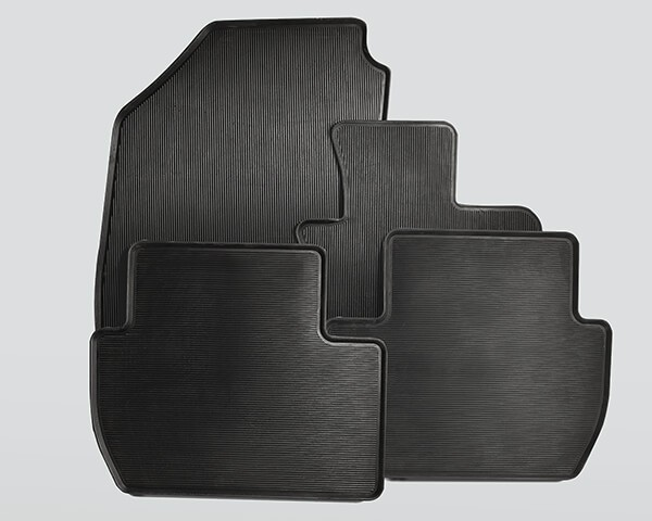 Rubber mat set - front and rear (high edge) Image
