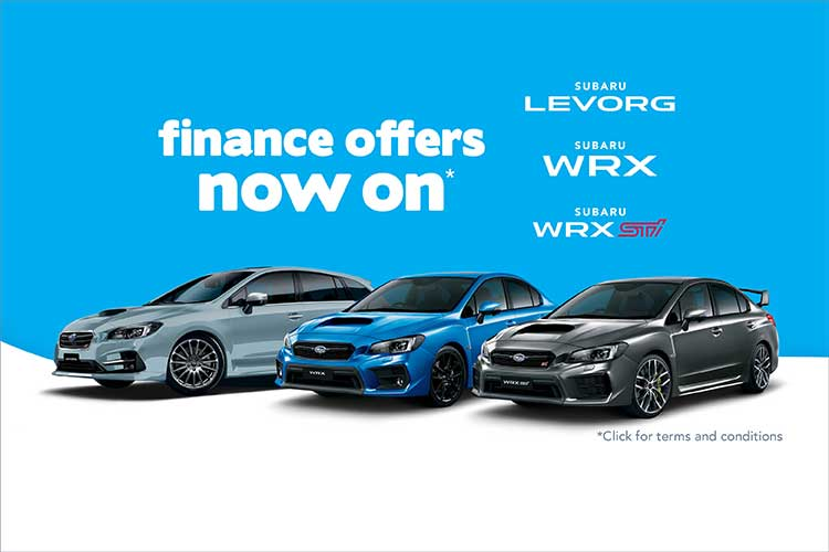 Finance Offers on WRX, STI & Levorg