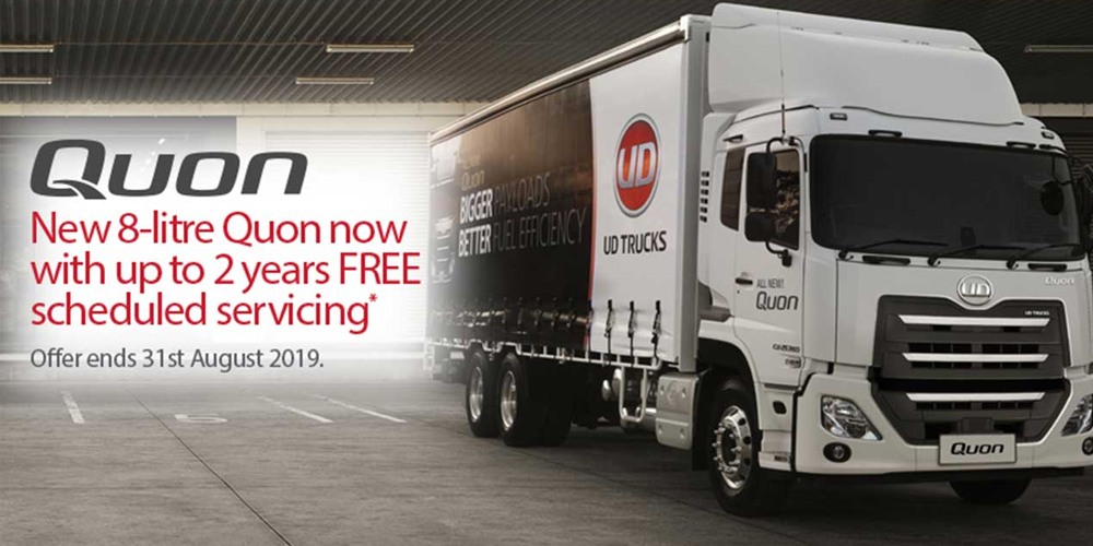 UD Trucks: 8-Litre Quon - Now with 2 years Free Scheduled Servicing*