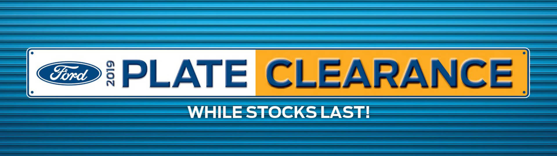 2019 Plate Clearance. While stocks last