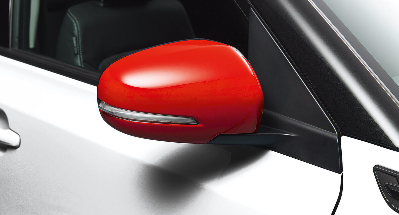 Door Mirror Cover Set (with indicator) - Red