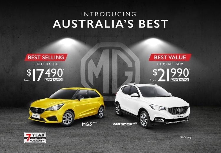 Introducing Australia's Best. MG. Discover our current offers.