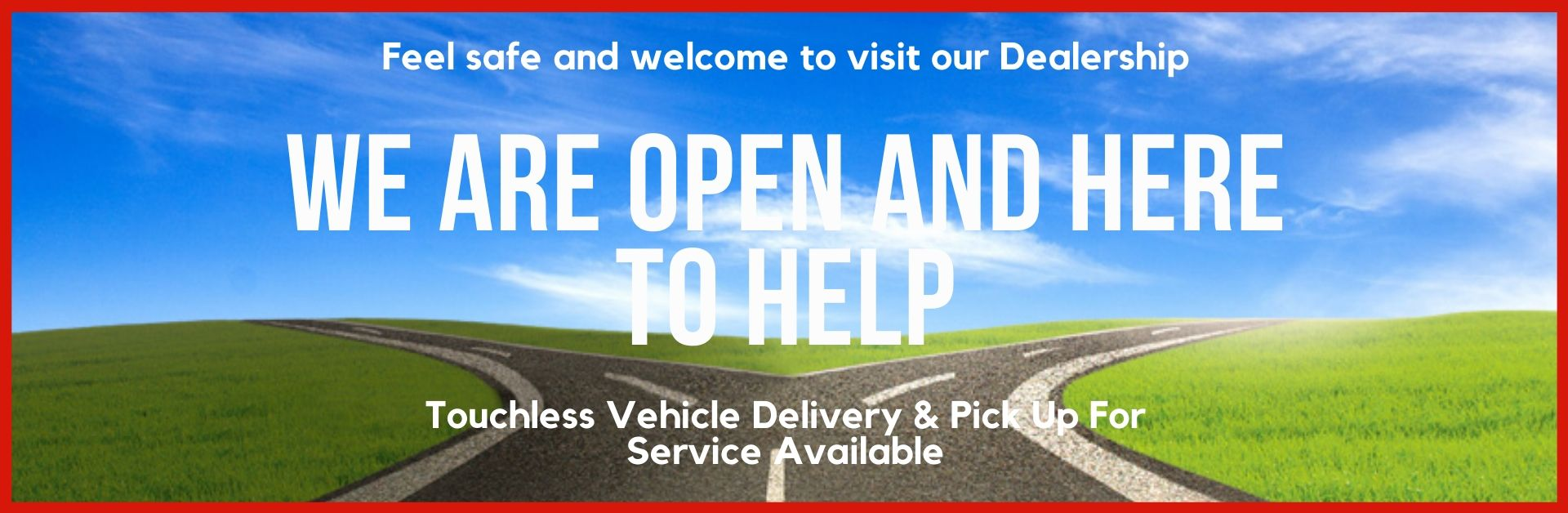 Vehicle Service - we are open and here to help