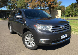 Toyota Kluger ALTITUDE (FWD) 7 SEAT GSU40R MY12 UPGRADE