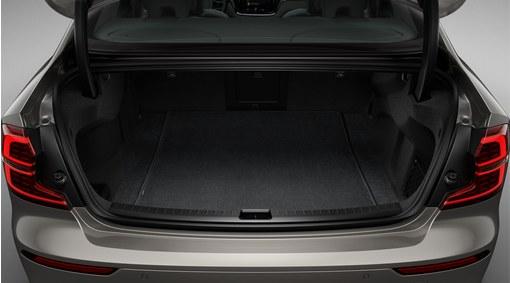 Reversible textile/plastic luggage compartment mat