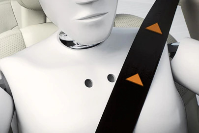 Prepared front safety belts Image