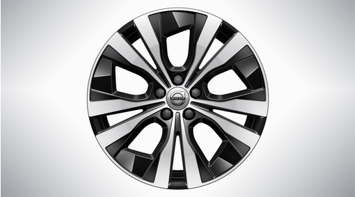 "18"" 5-Double Spoke Black Diamond Cut - 1098"