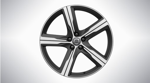 "20"" 5-Spoke Matt Black Diamond Cut Alloy Wheel"