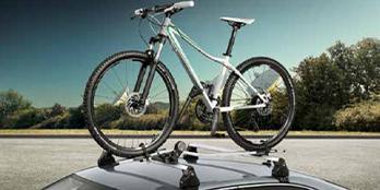 Lockable bicycle carrier aluminium profile