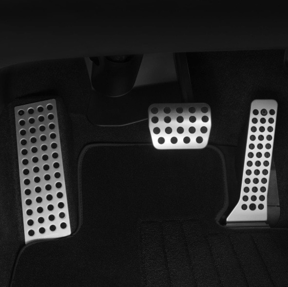 ALLOY PEDAL COVERS ( AT )