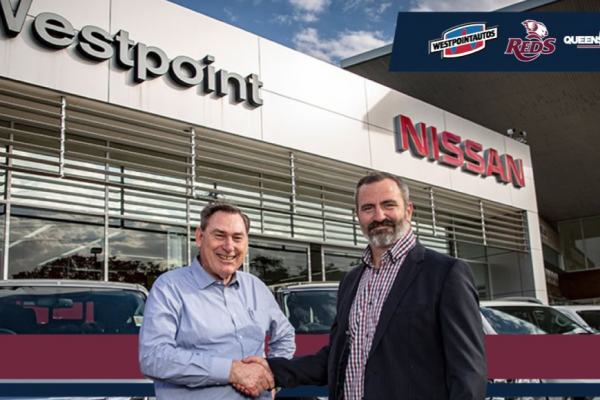 Westpoint Autos are the Official Vehicle Sponsor of the Queensland Reds & QRU!