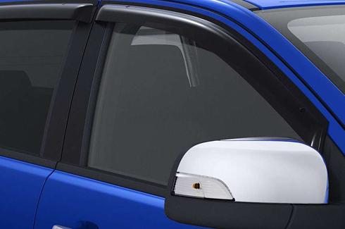 "<img src=""Weathershields - slimline - Double Cab front & rear"
