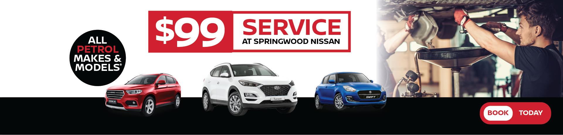 $99 Service at Springwood Nissan