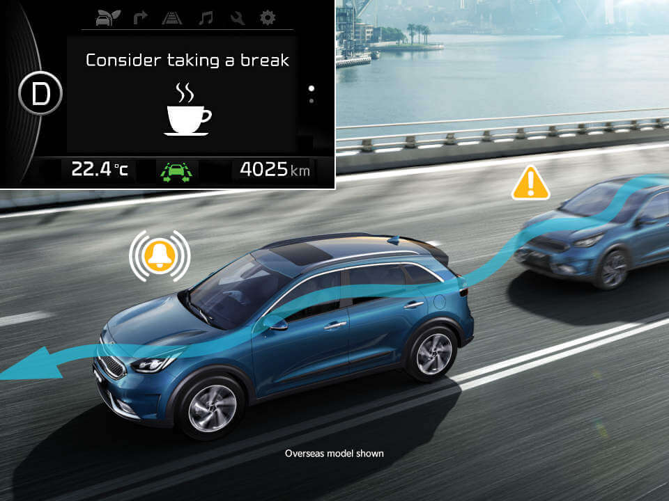 Driver Attention Alert Plus with lead vehicle departure alert Image