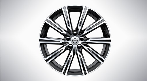 "19"" 10-Spoke Black Diamond Cut - 1010"