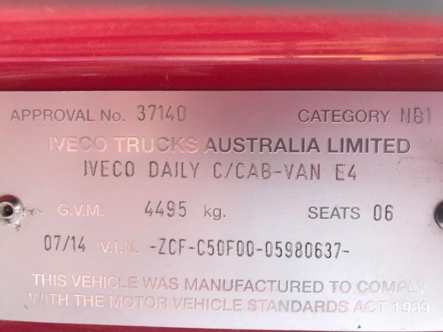 2014 Iveco 50c21 Dual Cab 50C21 Tray back Image 5