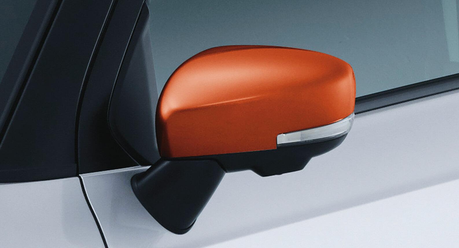 Ignis - Door Mirror Cover, Orange
