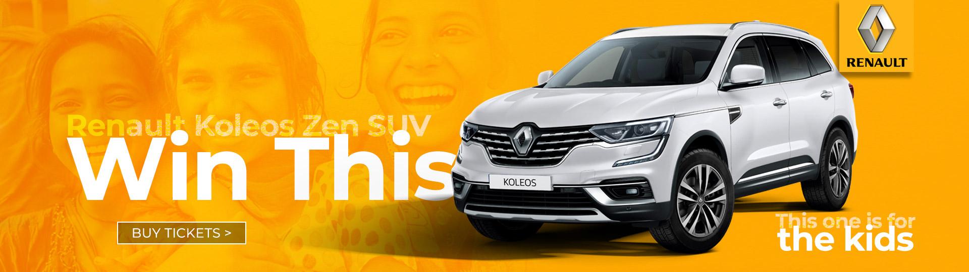 Destiny Rescue Win a Renault Koleos Zen Raffle