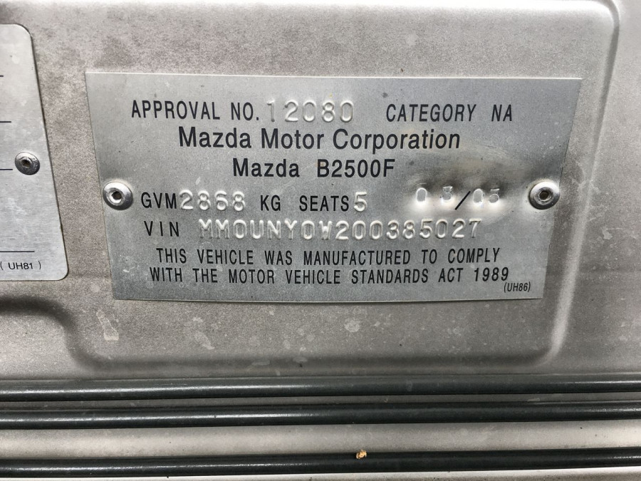 2005 Mazda Bravo B2500 DX Dual cab Image 15