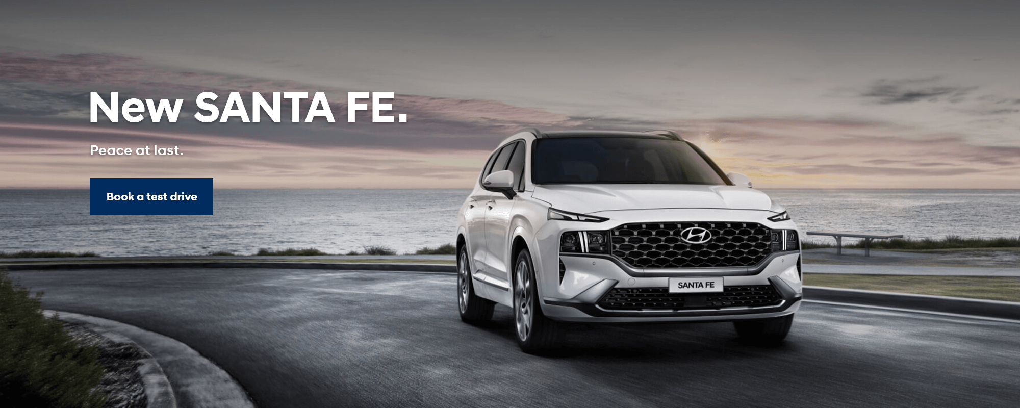 The All-New Hyundai SANTA FE. Peace at last.