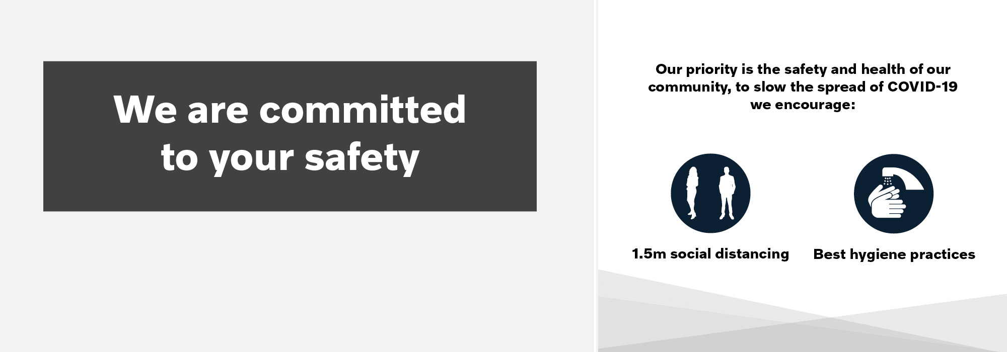 AT SUTTONS, WE ARE COMMITTED TO YOUR SAFETY