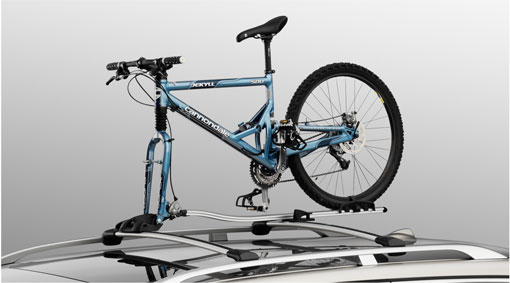 Bicycle rack + wheel holder for fork mounting
