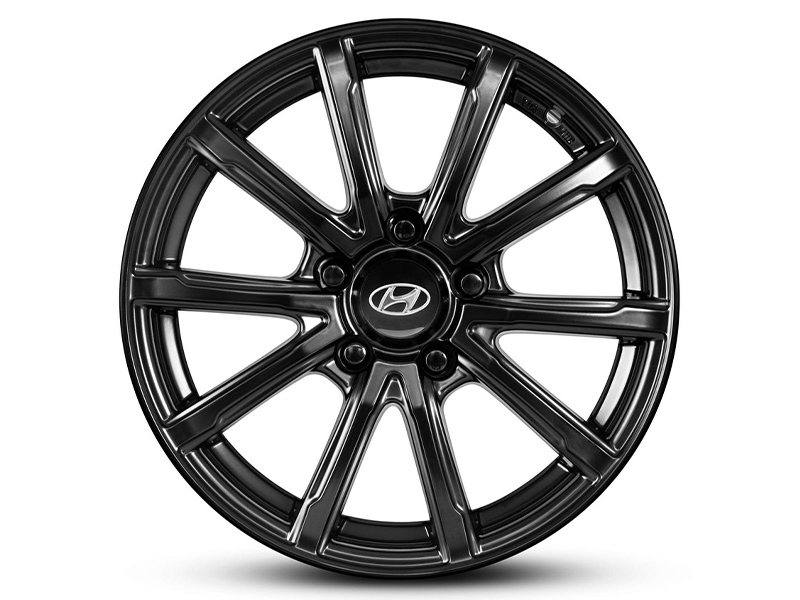 "<img src=""16"" Gunpo satin black alloy wheel."