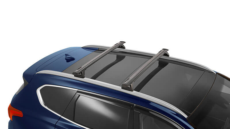 Hyundai genuine roof racks - through