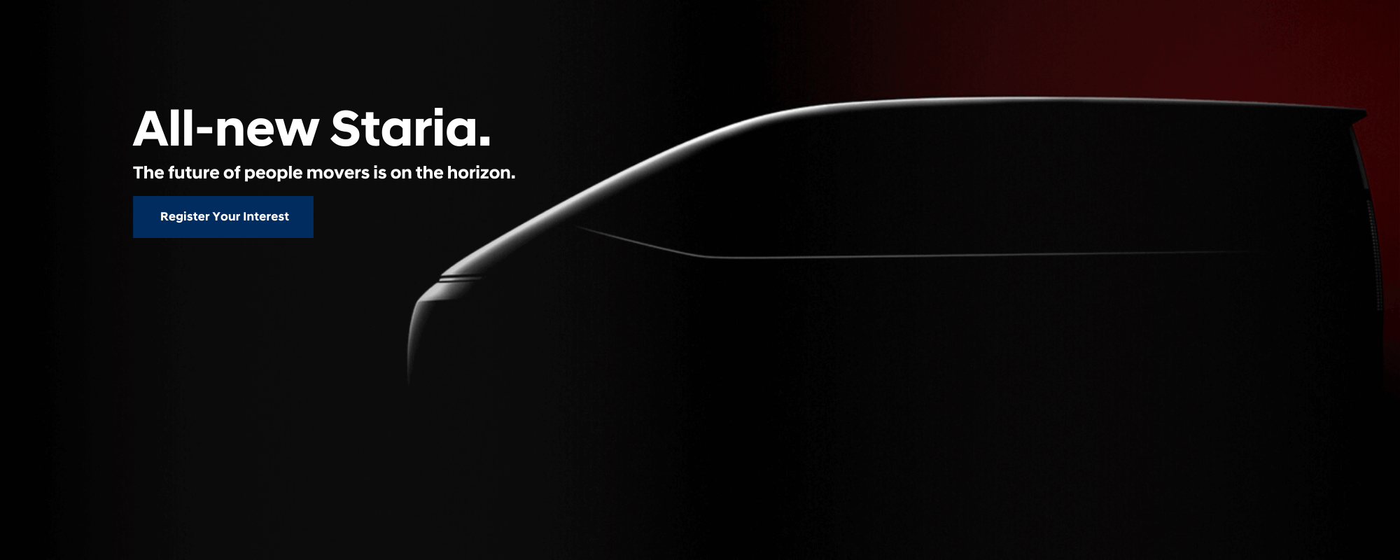Coming Soon: Hyundai STARIA. The future of people movers is on the horizon.