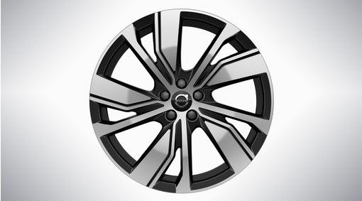 "20"" 5-Double Spoke Black Diamond Cut"