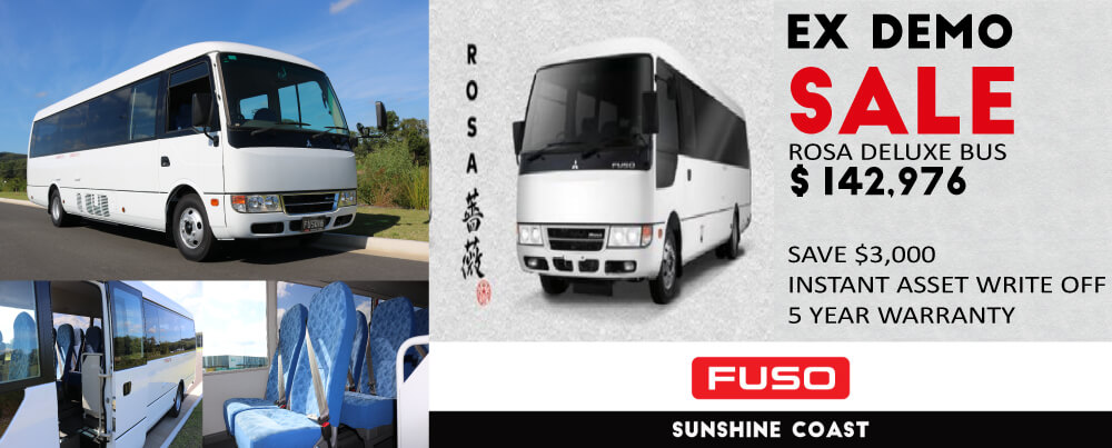 EX DEMO SALE FUSO ROSA BUS