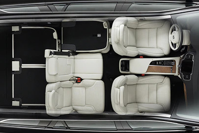 Flat-folding three-split rear seat Image