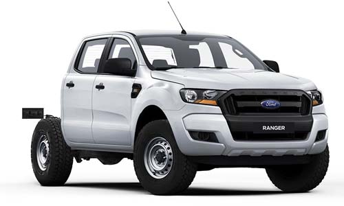 2018 Ford Ranger PX MkII 4x4 XL Double Cab Chassis 3.2L Cab chassis