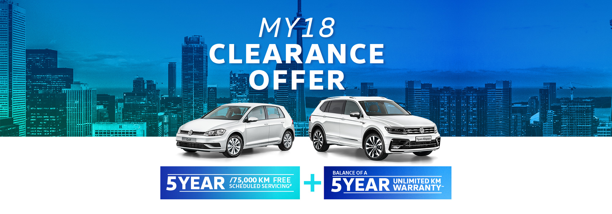 MY18 Clearance Offer