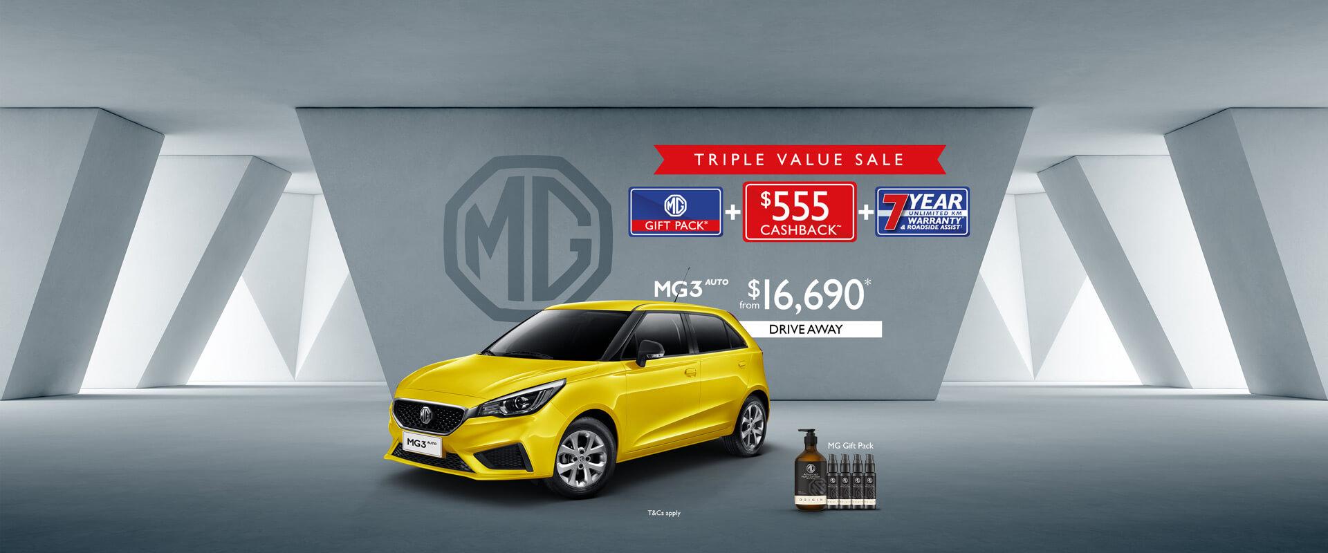 MG MG3 Triple Value Sale