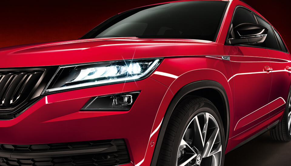 Kodiaq LED HEADLIGHTS WITH AFS AND FOG LAMPS