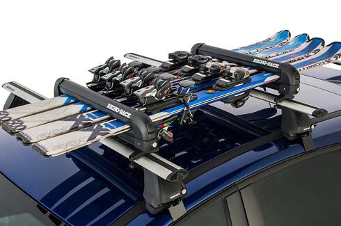 "<img src=""Rhino-Rack locking ski and snowboard carrier 6 skis"