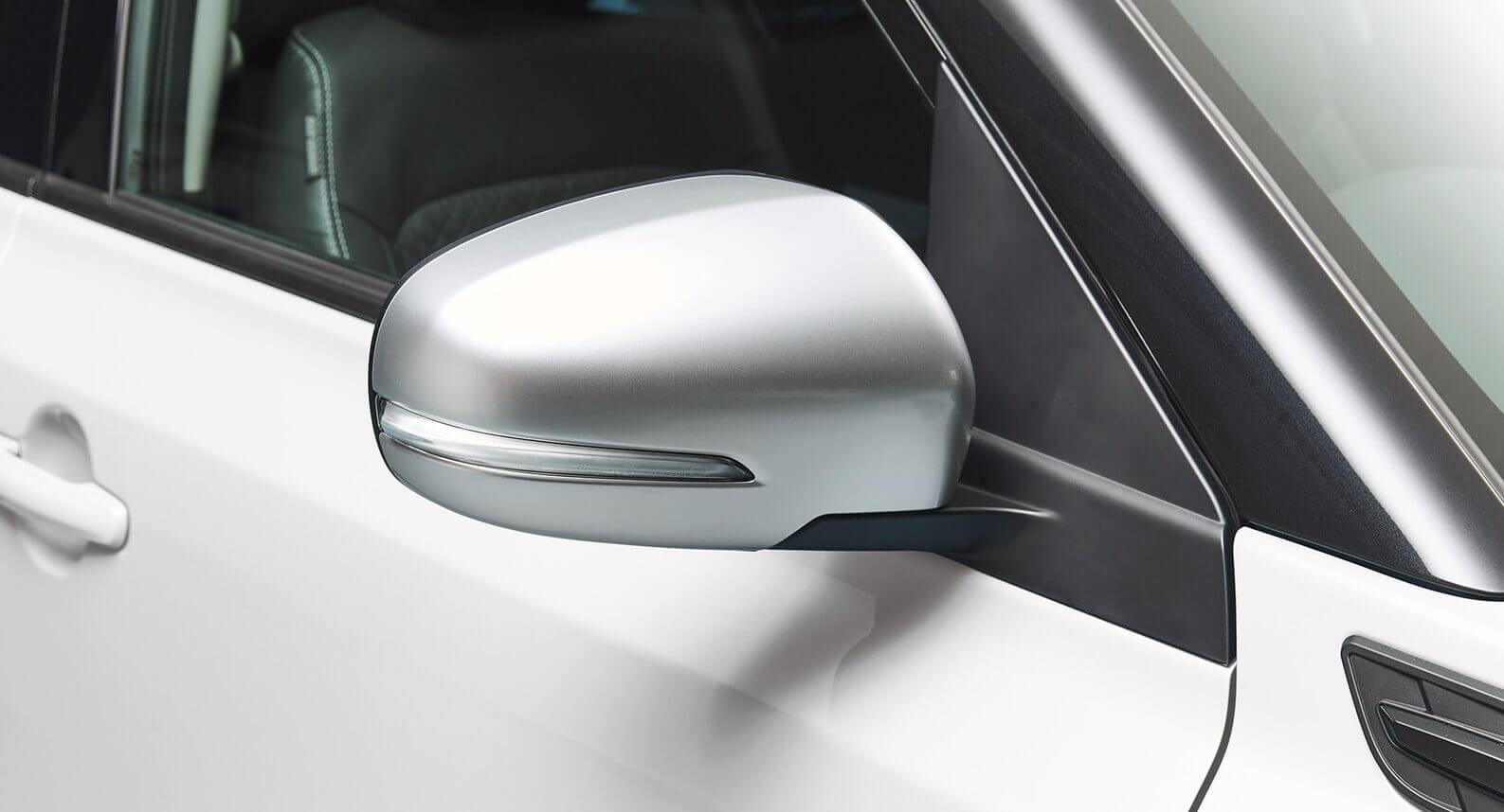 Door Mirror Cover Set (with indicator) - Brushed Aluminium