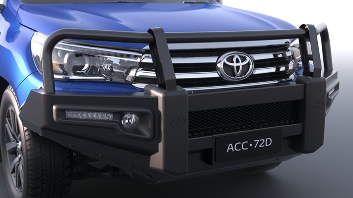 Premium Steel Bull Bar (Fog lamp applicable variant shown)