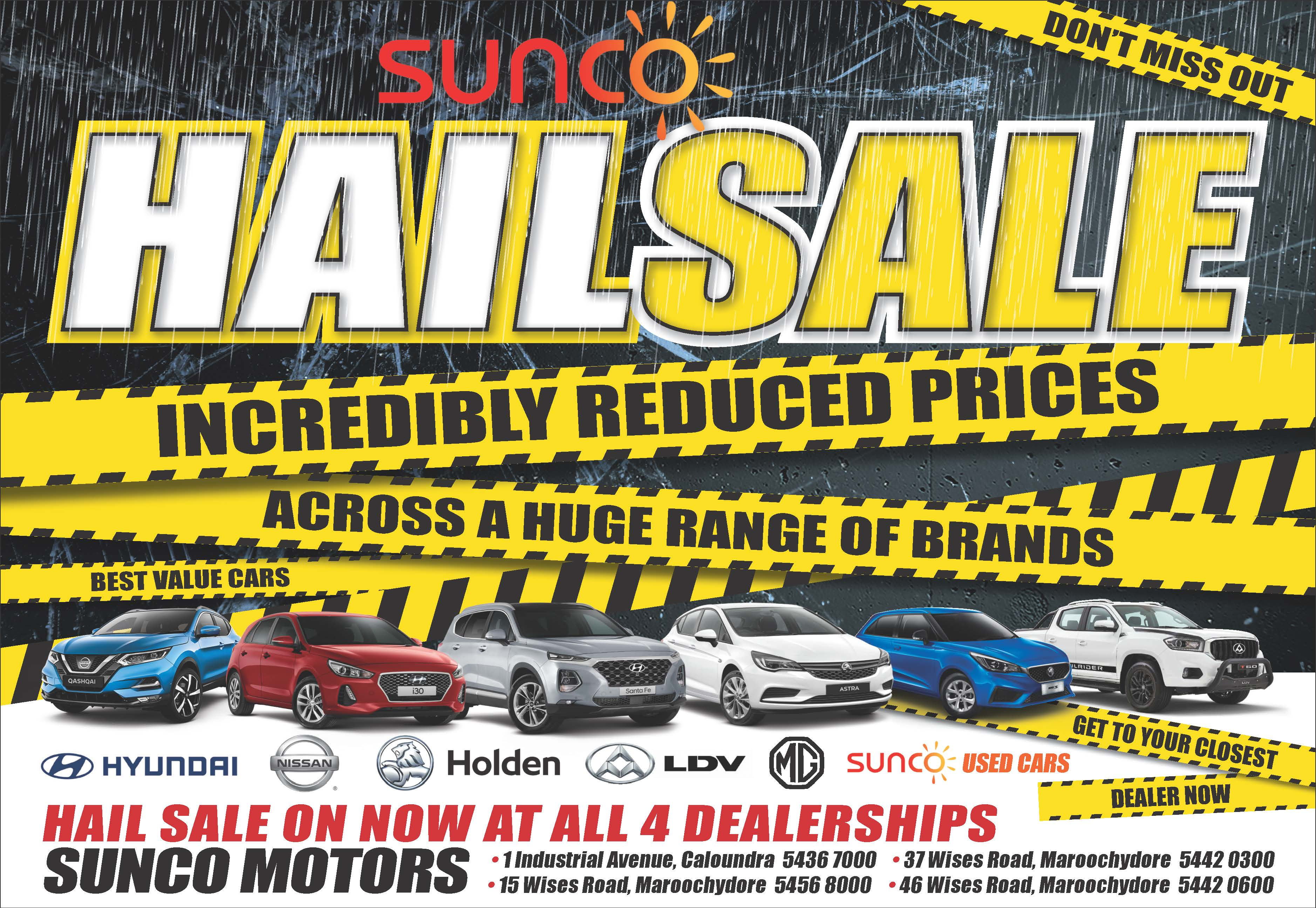 Sunco Hail Sale