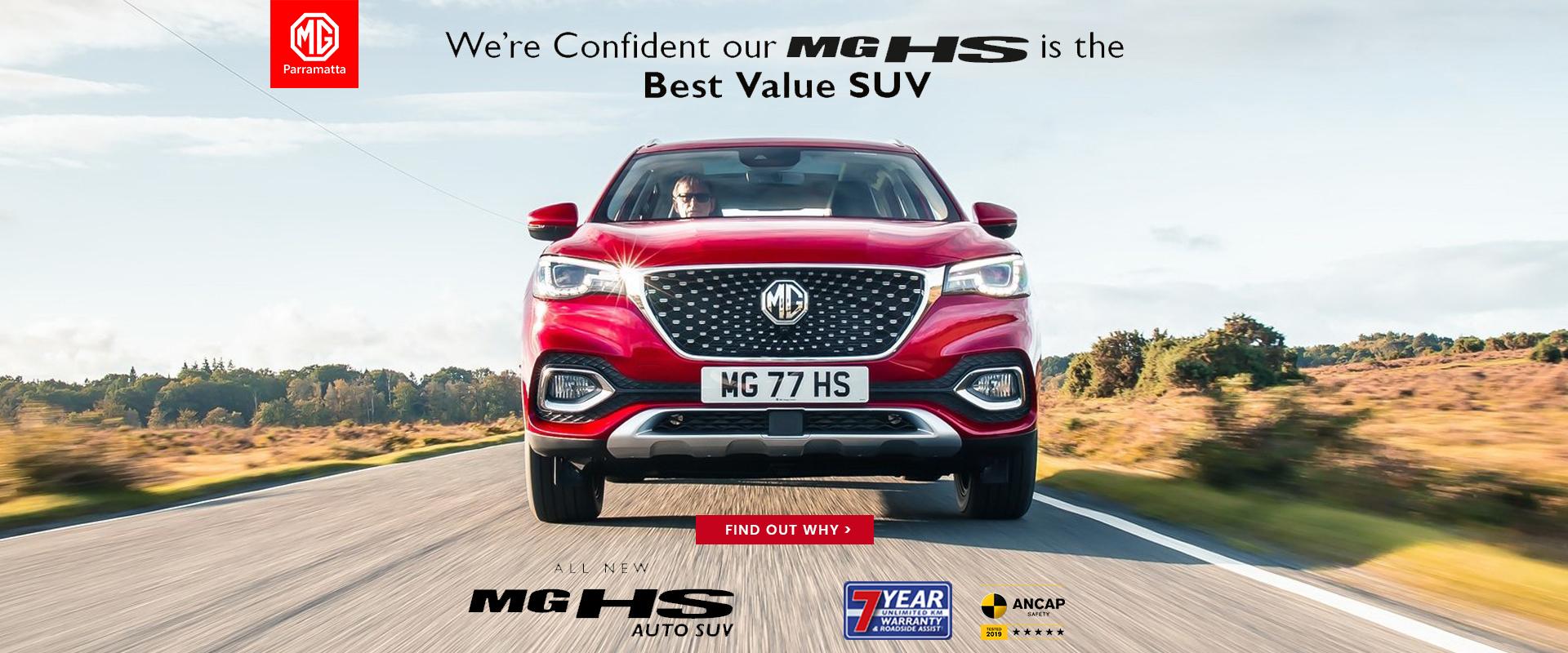 MG HS BEST VALUE TEST DRIVE OFFER - MG PARRAMATTA