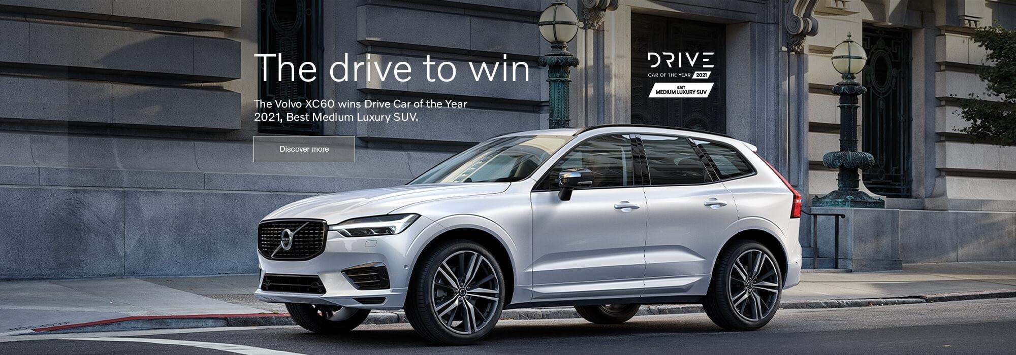 The Volvo XC60 wins Drive Car of the Year 2021, Best Medium Luxury SUV.