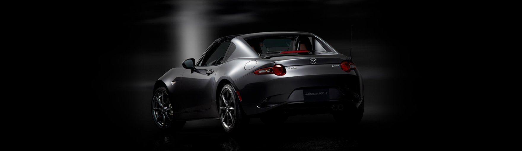 Rear view of a Mazda MX-5