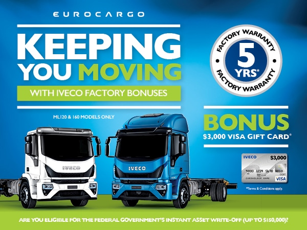 KEEPING YOU MOVING WITH EUROCARGO FACTORY BONUSES