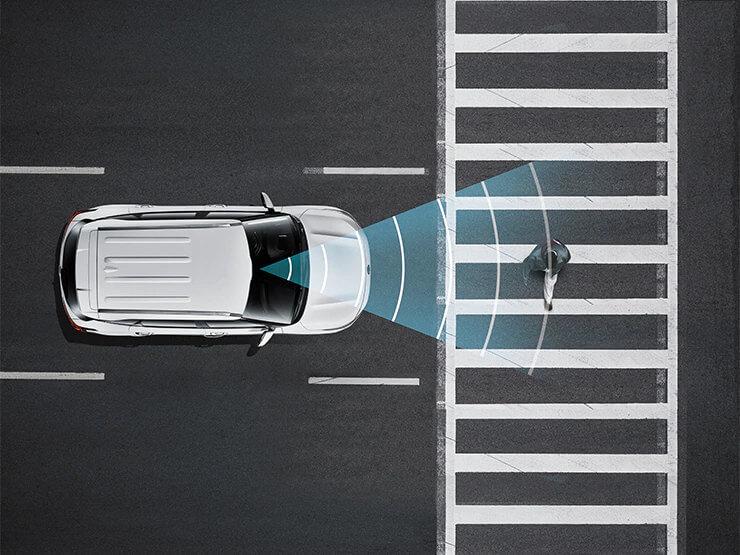 Autonomous Emergency Braking (AEB) with Forward Collision Warning (FCWS)