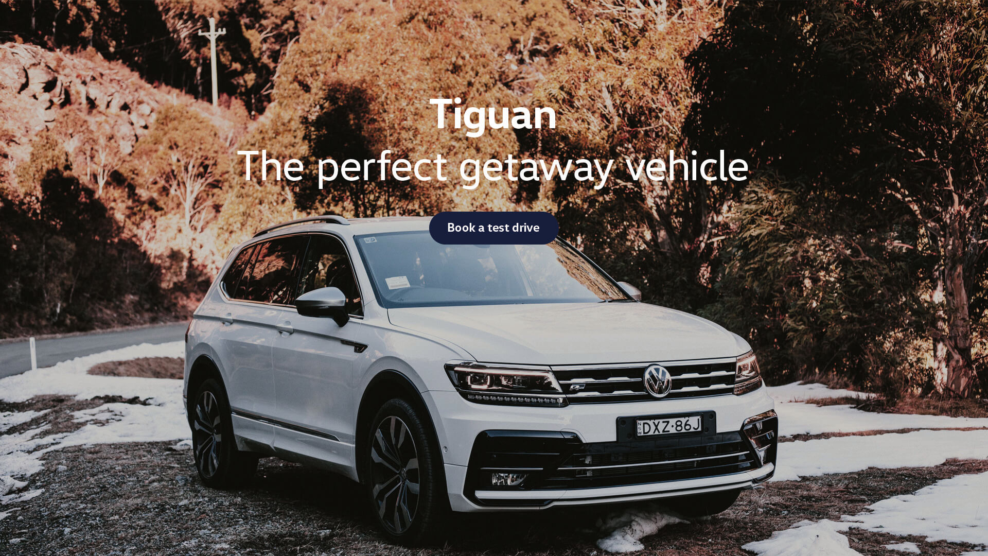 Volkswagen Tiguan. The perfect getaway vehicle. Test drive today at Woodleys Volkswagen, Tamworth