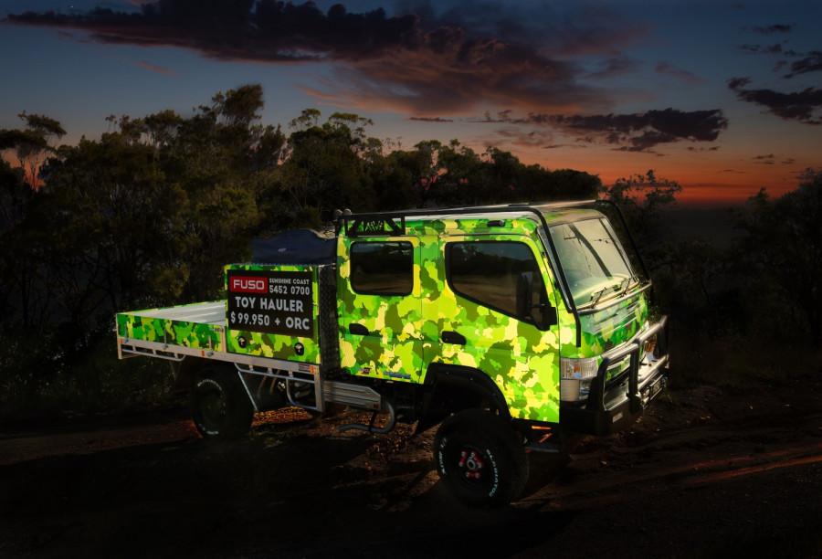 2020 Fuso Canter  4X4 CREW CAB  TOY HAULER  4wd