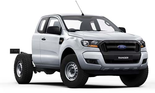 2018 Ford Ranger PX MkII 4x4 XL Super Cab Chassis 3.2L Cab chassis