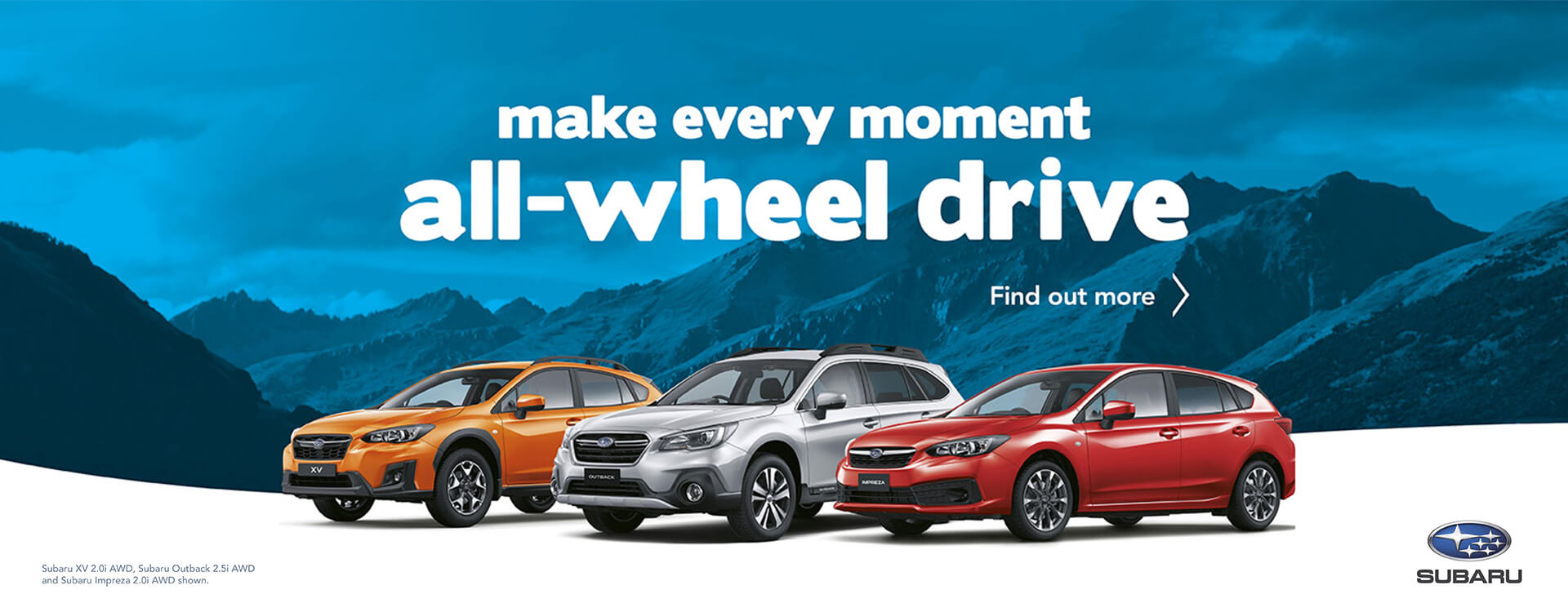 Make every moment all-wheel drive with Subaru.
