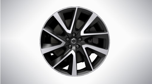 "21"" 5-V Spoke Black Diamond Cut Alloy Wheel - 1014"